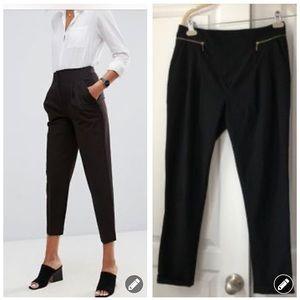 Zara Basic pleated high rise zipper pant 2500